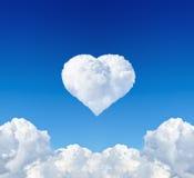Coeur de nuage Image stock