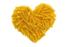 Coeur de pâtes Image stock