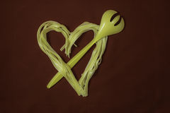 Coeur de pâtes de jour de valentines Photo stock