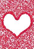 Coeur de pétale de Rose Image stock