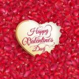 Coeur de pétales de Rose ENV 10 Photo stock
