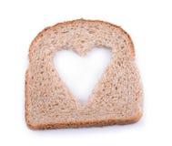 Coeur de pain photographie stock libre de droits