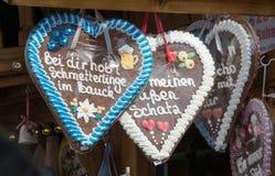 Coeur de pain d'épice Image libre de droits