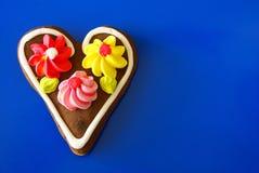 Coeur de pain d'épice Image stock
