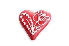coeur de pain d'épice Photos stock