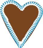 Coeur de pain d'épice d'Oktoberfest images libres de droits