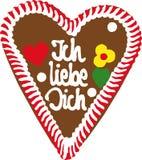 Coeur de pain d'épice d'Oktoberfest photos libres de droits