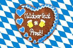 Coeur de pain d'épice d'Oktoberfest Image stock