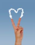 Coeur de paix Images stock
