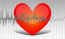 Coeur de palpitation illustration stock