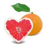 Coeur de pamplemousse Image stock