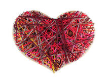 Coeur de panneau dans l'art de ficelle de style Photo libre de droits