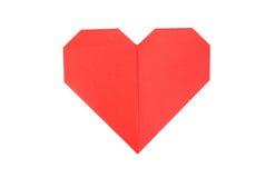 Coeur de papier au-dessus du fond blanc Image stock