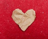 Coeur de papier déchiré Image stock