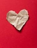 Coeur de papier déchiré Photos stock