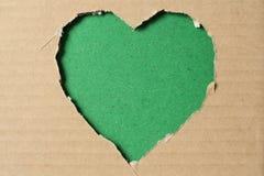 Coeur de papier déchiré Images libres de droits