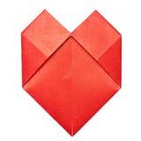 Coeur de papier d'Origami Photos libres de droits