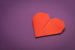 Coeur de papier d'Origami Image stock