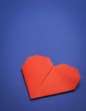 Coeur de papier d'Origami Photographie stock