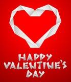 Coeur de papier de Valentine Image stock