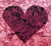 Coeur de papier rose Photographie stock