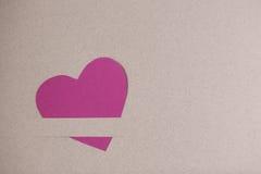 Coeur de papier rose Images libres de droits