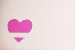Coeur de papier rose Images stock