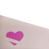 Coeur de papier rose Photos libres de droits