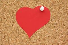 Coeur de papier rouge Photographie stock