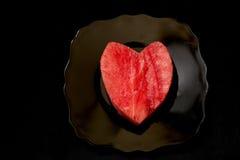 Coeur de pastèque image libre de droits