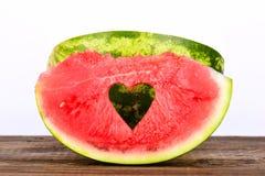 Coeur de pastèque Photo libre de droits