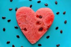 Coeur de pastèque Images stock