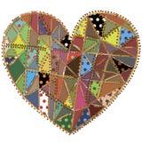 Coeur de patchwork Image stock