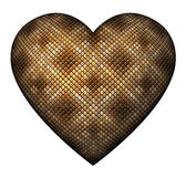 Coeur de peau de serpent Photo stock