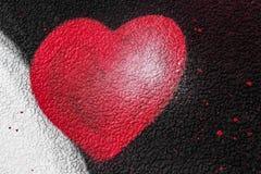 Coeur de peinture de jet Photographie stock libre de droits