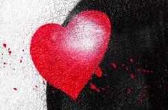 Coeur de peinture de jet Photos libres de droits