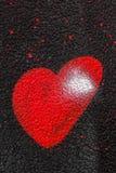 Coeur de peinture de jet Image libre de droits