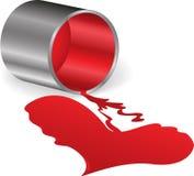 Coeur de peinture rouge illustration libre de droits