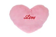 Coeur de peluche d'isolement Image stock