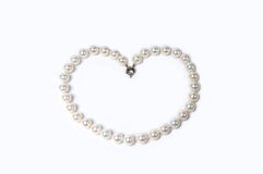Coeur de perle Image stock