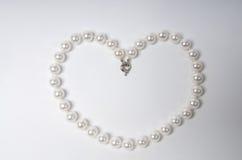 Coeur de perle Image libre de droits