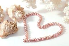 Coeur de perle Photographie stock