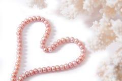 Coeur de perle Photographie stock libre de droits