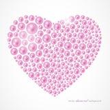 Coeur de perle Photos stock