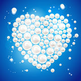 Coeur de perle. Illustration de vecteur. Image libre de droits