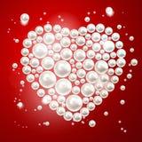 Coeur de perle. Illustration de vecteur. Photo libre de droits