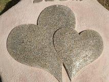 Coeur de pierre photo libre de droits