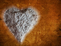 Coeur de pierre Photo stock