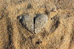 Coeur de pierre Images libres de droits