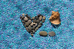 Coeur de pierre Image libre de droits